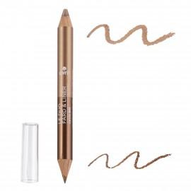 Duo fard & liner Bronze Cuivré/Beige Doré bio