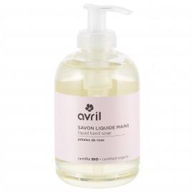 Savon liquide mains Pétales de Rose - 300 ml - Certifié bio