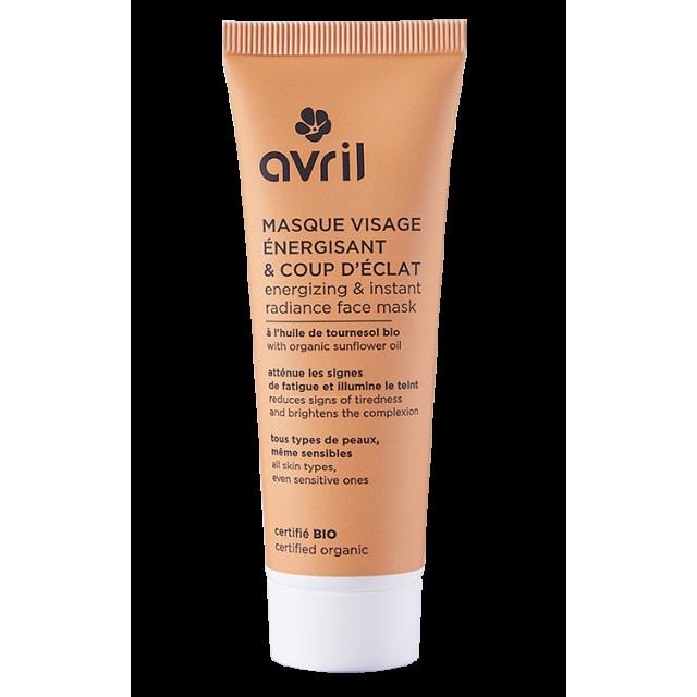 Masque visage énergisant & coup d'éclat  50 ml - Certifié bio