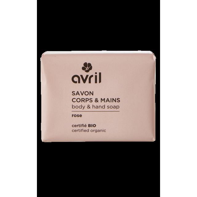 Savon corps & main Rose  100g - Certifié bio