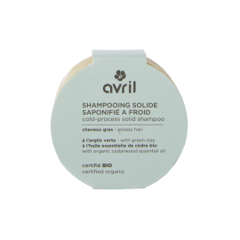 Shampooing solide saponifié à froid Cheveux gras 100g - Certifié bio