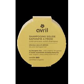 Shampooing solide saponifié à froid Cheveux secs et abîmés 100g - Certifié bio