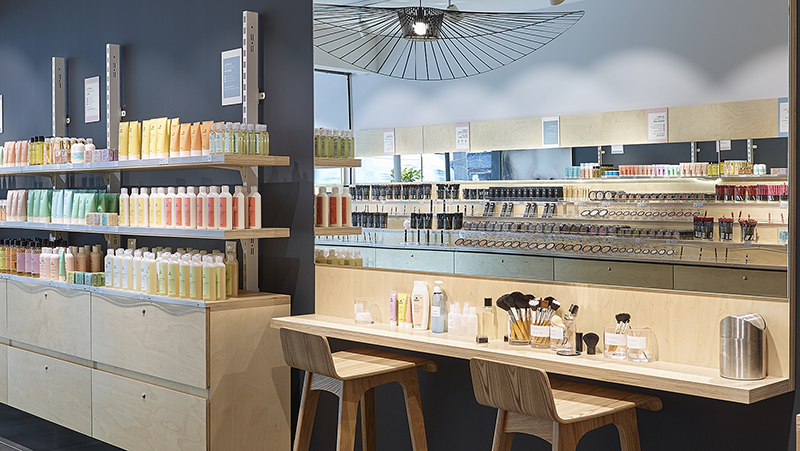 Organic cosmetics and make-up store france