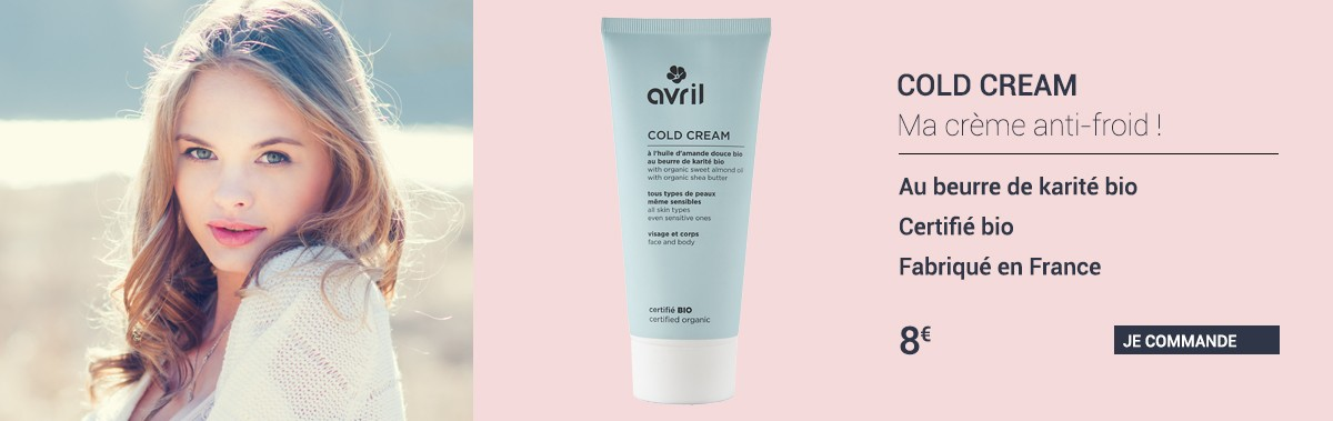 Cold cream certifié bio